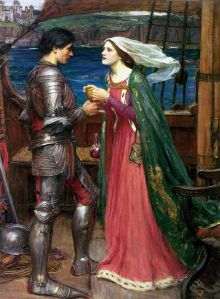 Tristan and Isolde drinking the love potion by John William Waterhouse